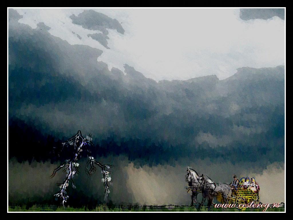 Konji koji su se trkali sa oblacima